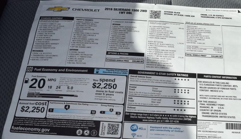 2016 Chevrolet SILVERADO 1500 Black Out Edition 1