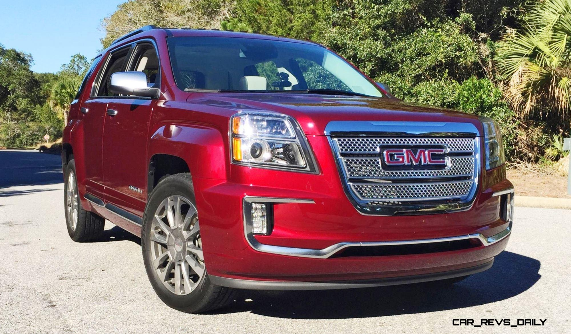 hd road test review 2016 gmc terrain denali awd v6 swanky refresh for right sized suv car. Black Bedroom Furniture Sets. Home Design Ideas