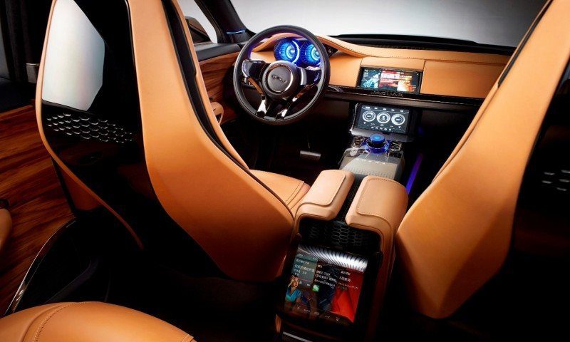2016 JAGUAR XQ-Type Preview - C-X17 SUV INTERIOR 12