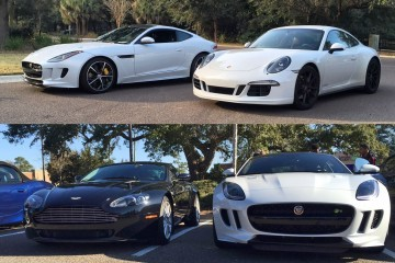 2016 Jaguar F-Type Coupe Meets Its Rivals: Porsche 911 GTS and Aston Martin V8 Vantage