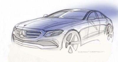 E-Klasse Desigskizze E-Class design sketch