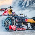 Got Grip? Red Bull F1 Car On Snowchains Rips Up Tyrol, Austria Ski Slopes