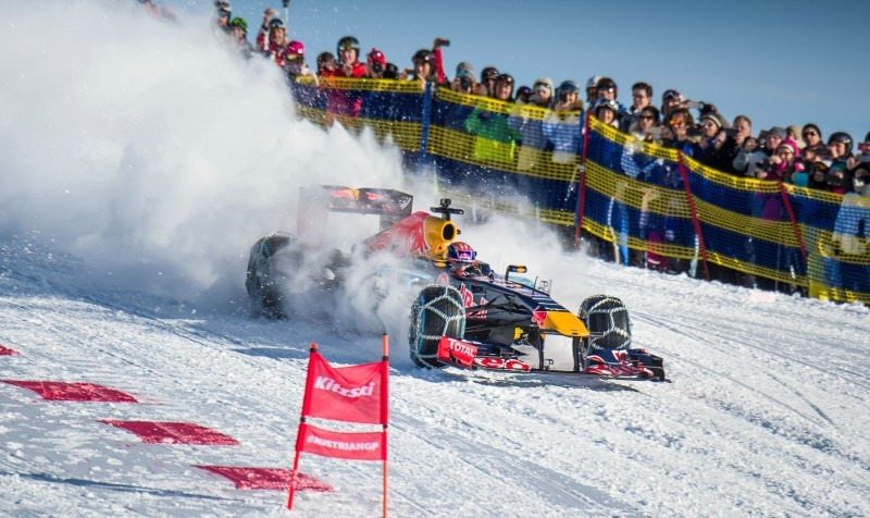 2016 Red Bull F1 Car Austria Snowchains Skiing 31
