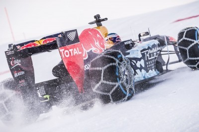 2016 Red Bull F1 Car Austria Snowchains Skiing 33