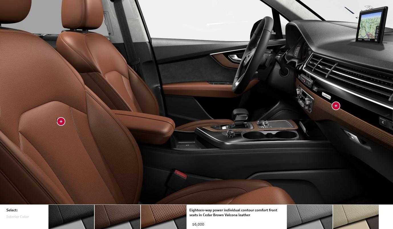 Audi Q7 Interior Colors