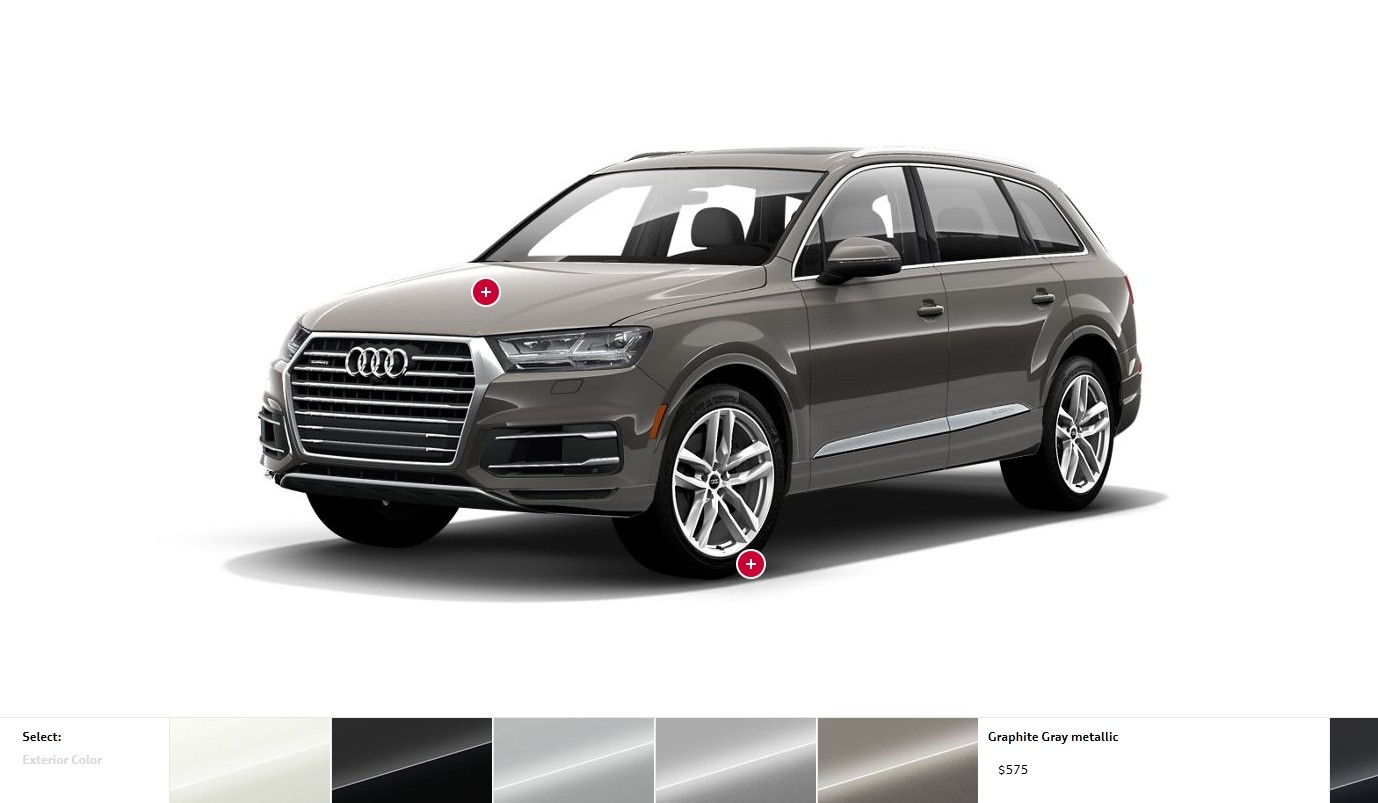 2017 audi q7 visualizer colors cabins pricing and