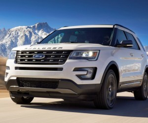 the 2017 ford explorer xlt sport appearance package includes an elegant magnetic gray rear appliqu on the liftgate preproduction model shown available