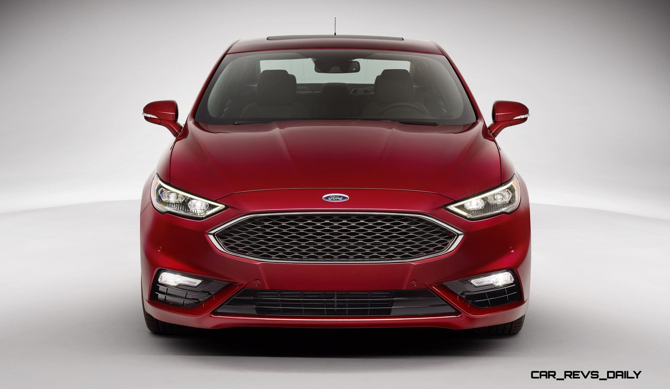 325HP V6TT 2017 Ford FUSION SPORT Leads Refreshed Midsize Sedan Lineup