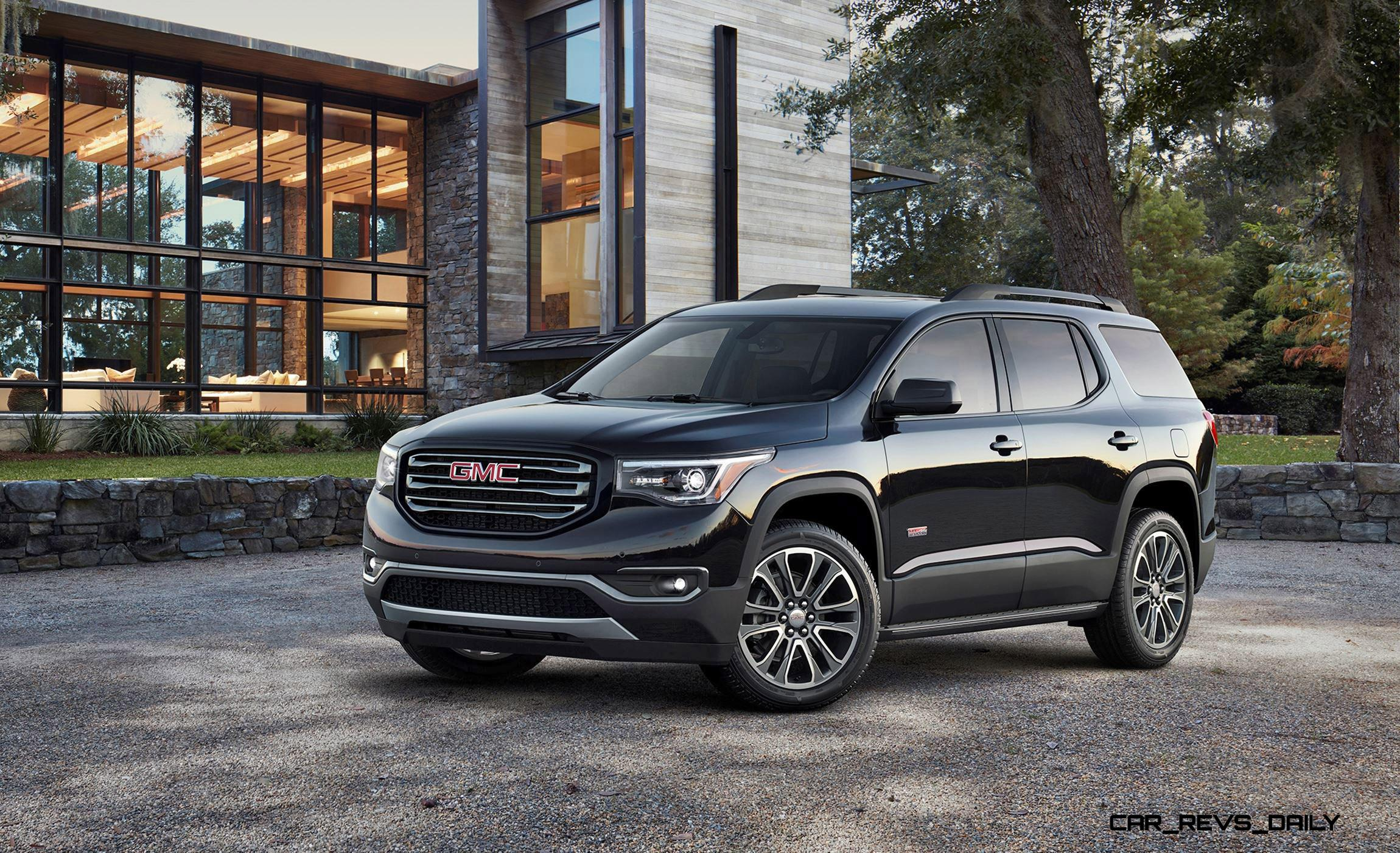2017 gmc acadia shows radical redesign 700lb weight loss new all terrain spec. Black Bedroom Furniture Sets. Home Design Ideas