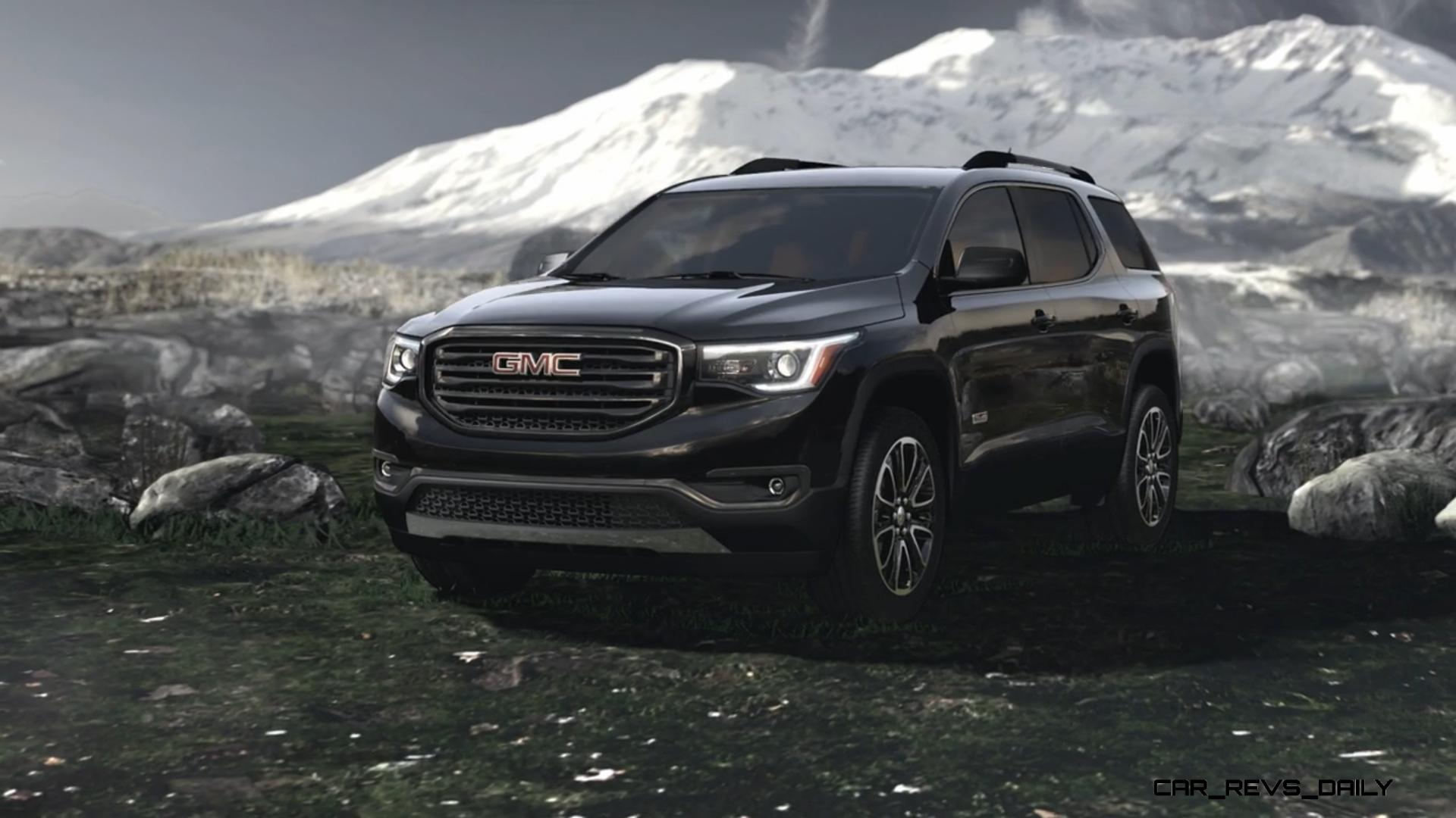 2017 gmc acadia shows radical redesign 700lb weight loss new all terrain spec car revs. Black Bedroom Furniture Sets. Home Design Ideas