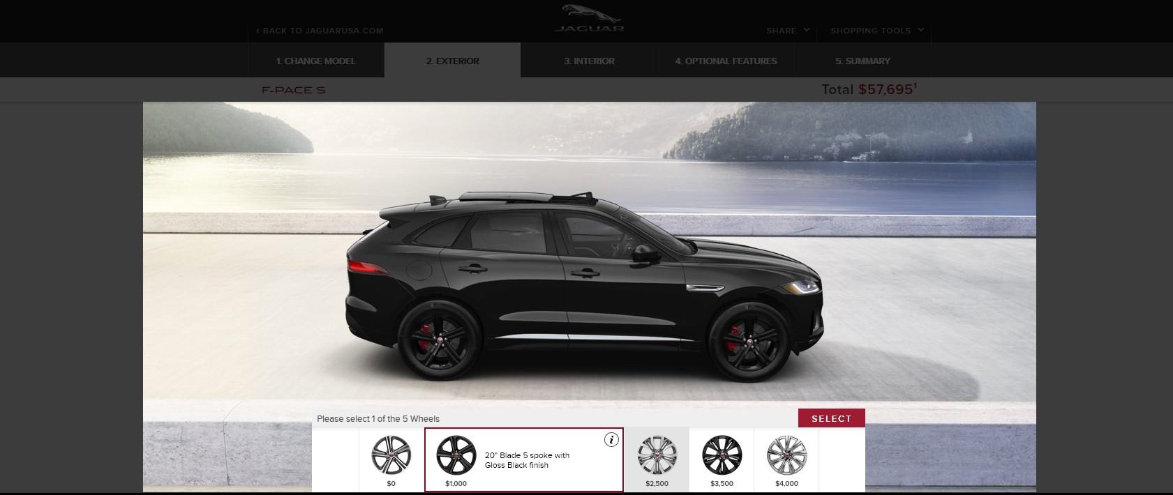 2017 jaguar f pace suv usa visualizer colros wheels 5 car revs. Black Bedroom Furniture Sets. Home Design Ideas