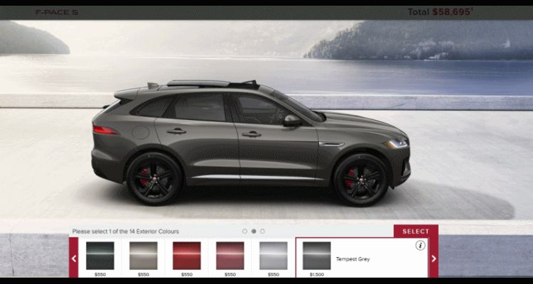 2017 JAGUAR F-Pace SUV - USA Visualizer colors