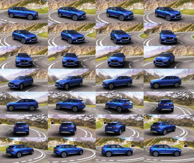 2017 Jaguar F-PACE First Edition Blue 26-tile