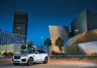 2017 Jaguar F-PACE V6S Silver Disney Center LA 1