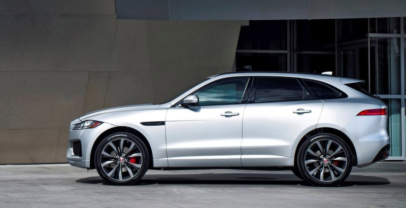 2017 Jaguar F-PACE V6S Silver Disney Center LA 10