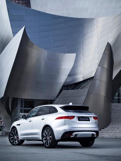 2017 Jaguar F-PACE V6S Silver Disney Center LA 11