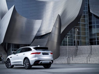 2017 Jaguar F-PACE V6S Silver Disney Center LA 12