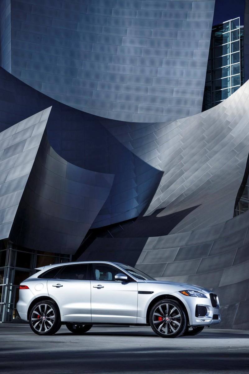 2017 Jaguar F-PACE V6S Silver Disney Center LA 15