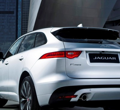 2017 Jaguar F-PACE V6S Silver Disney Center LA 17