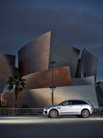 2017 Jaguar F-PACE V6S Silver Disney Center LA 3