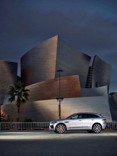 2017 Jaguar F-PACE V6S Silver Disney Center LA 3