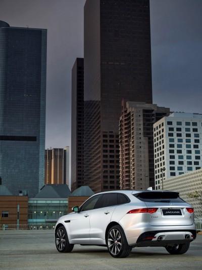 2017 Jaguar F-PACE V6S Silver Disney Center LA 4