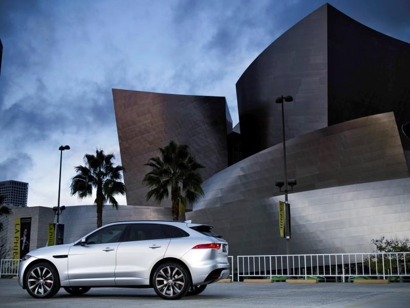 2017 Jaguar F-PACE V6S Silver Disney Center LA 5