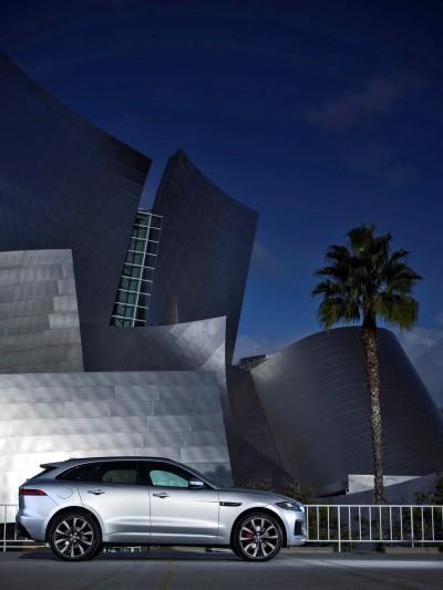2017 Jaguar F-PACE V6S Silver Disney Center LA 6