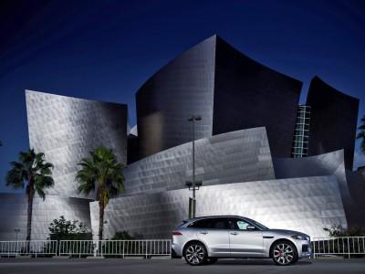 2017 Jaguar F-PACE V6S Silver Disney Center LA 7