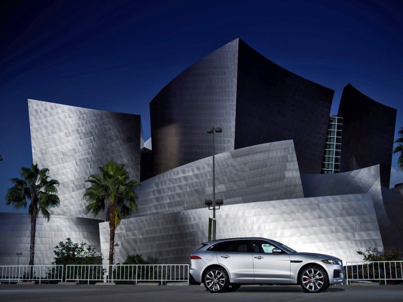 2017 Jaguar F-PACE V6S Silver Disney Center LA 7