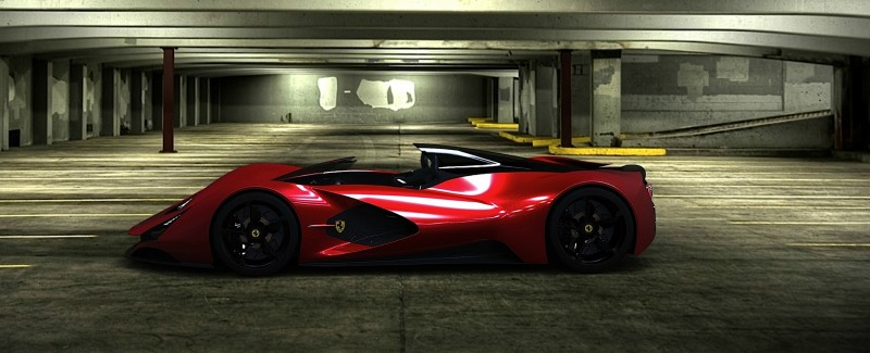 2017 Maserati MC12 Possibly Based on LaFerrari Aliante Spyder by Turin Design Students 18