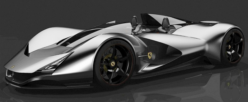 2017 Maserati MC12 Possibly Based on LaFerrari Aliante Spyder by Turin Design Students 30
