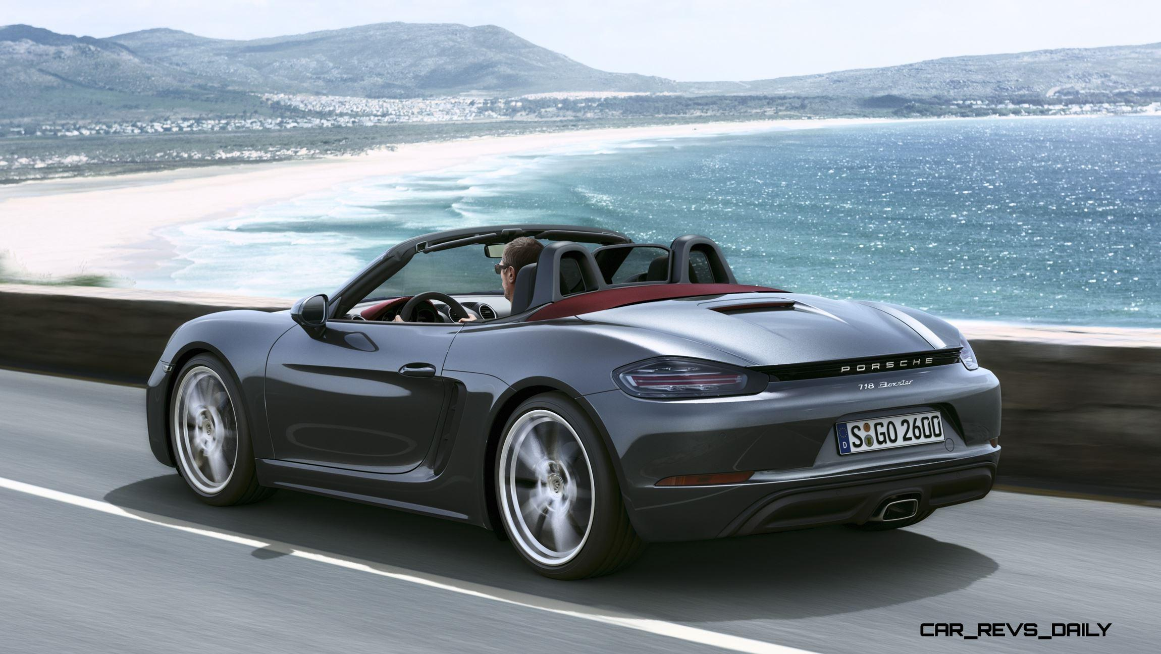 350hp 2017 porsche 718 boxster s revealed all. Black Bedroom Furniture Sets. Home Design Ideas
