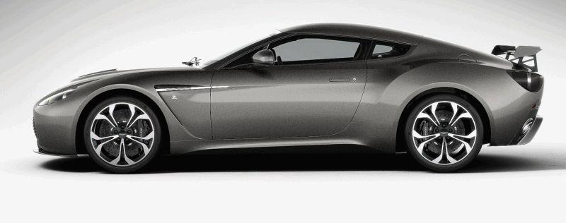 Aston Martin V12 Zagato Grey GIF spinner