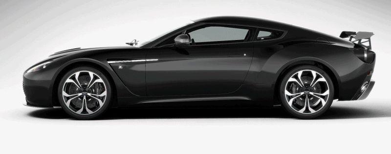 Aston Martin V12 Zagato black GIF spinner