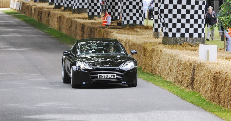 Aston Martin Zings Up Goodwood Hill (to its AMG Future) in Vantage S, Rapide S and Vanquish 14