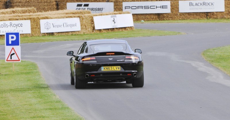 Aston Martin Zings Up Goodwood Hill (to its AMG Future) in Vantage S, Rapide S and Vanquish 17