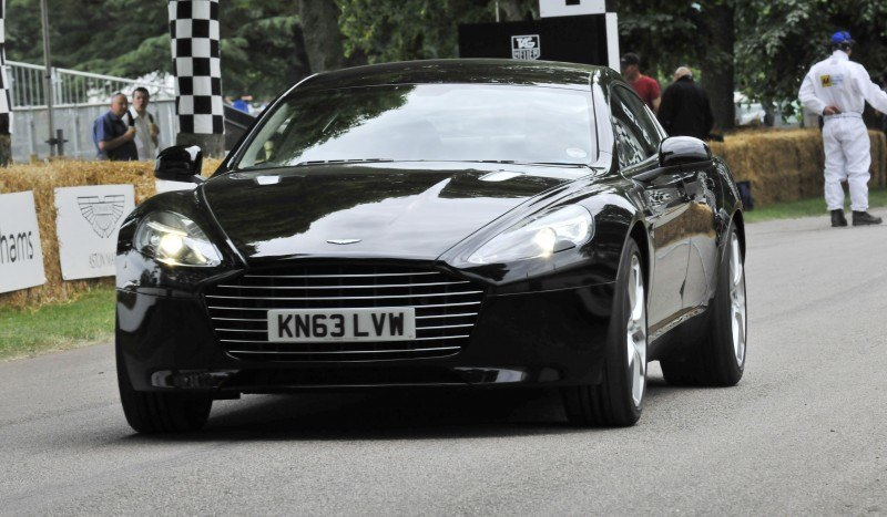 Aston Martin Zings Up Goodwood Hill (to its AMG Future) in Vantage S, Rapide S and Vanquish 19