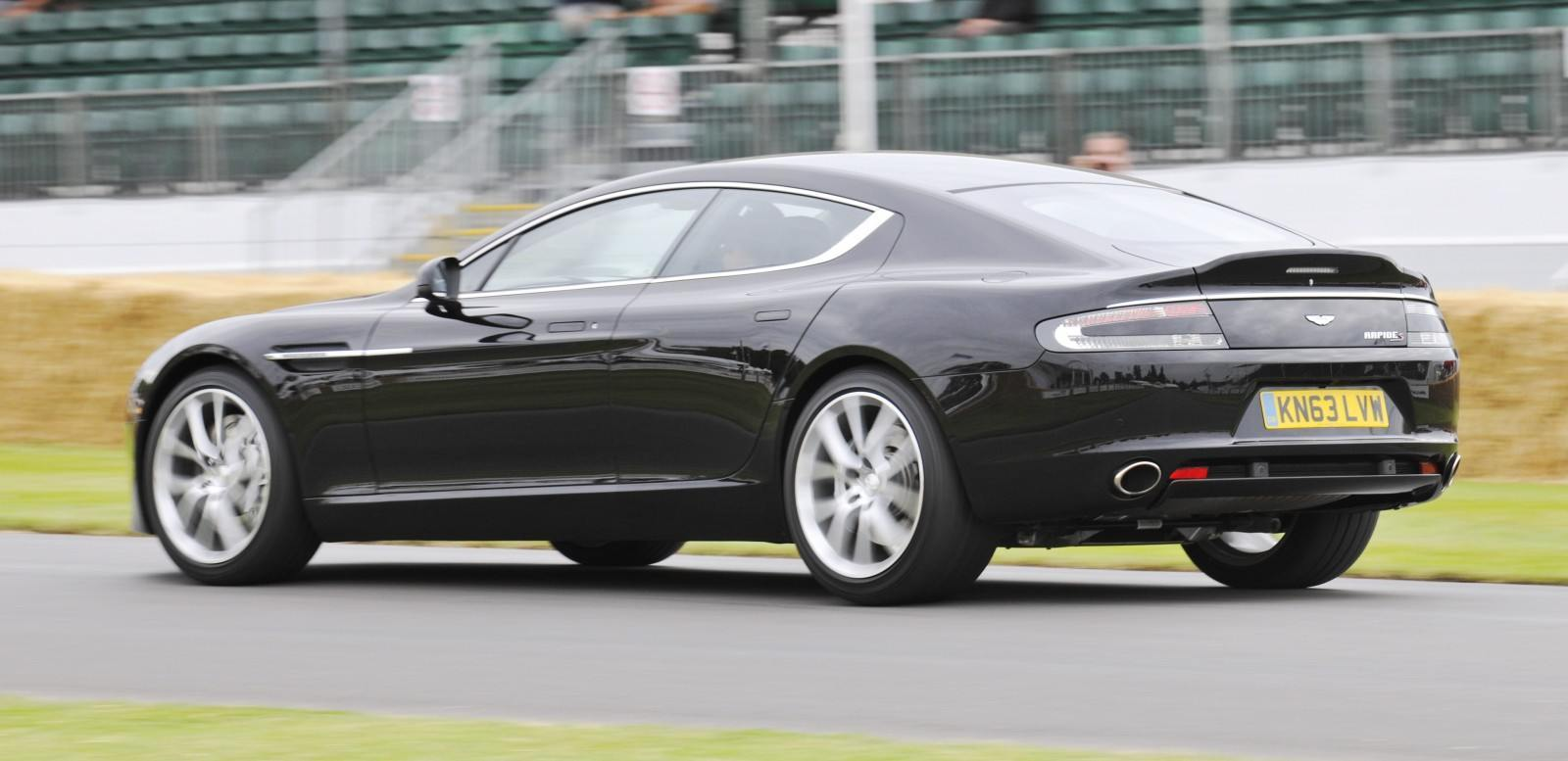 Aston Martin Zings Up Goodwood Hill To Its Amg Future In Vantage S Rapide S And Vanquish X