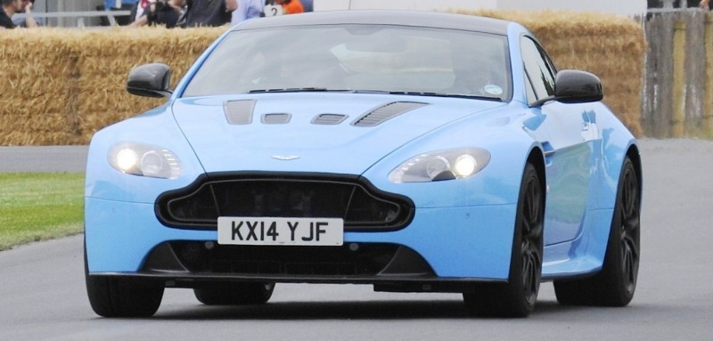 Aston Martin Zings Up Goodwood Hill (to its AMG Future) in Vantage S, Rapide S and Vanquish 7