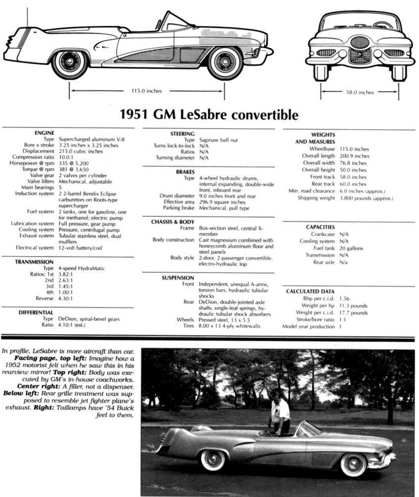 Atlanta Dream Cars - 1951 General Motors LeSabre XP-8 Struck Gold With Yank Tank Ethos of 1950s 11