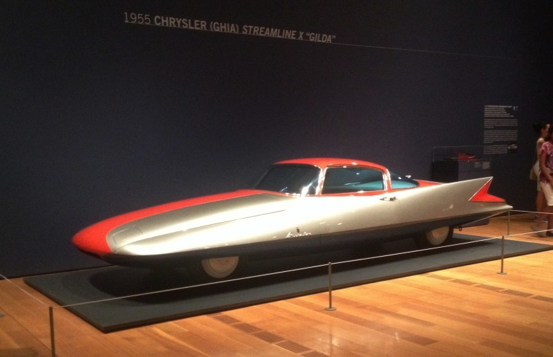 Atlanta Dream Cars - 1955 Chrysler Streamline X Ghilda by GHIA is Turbine Car Ideal 25