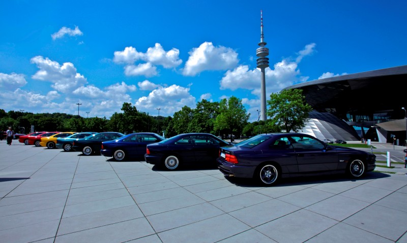 BMW E31 840i, 850i and 850CSi Celebrate 25th-Anniversary Homecoming in Munchen 28