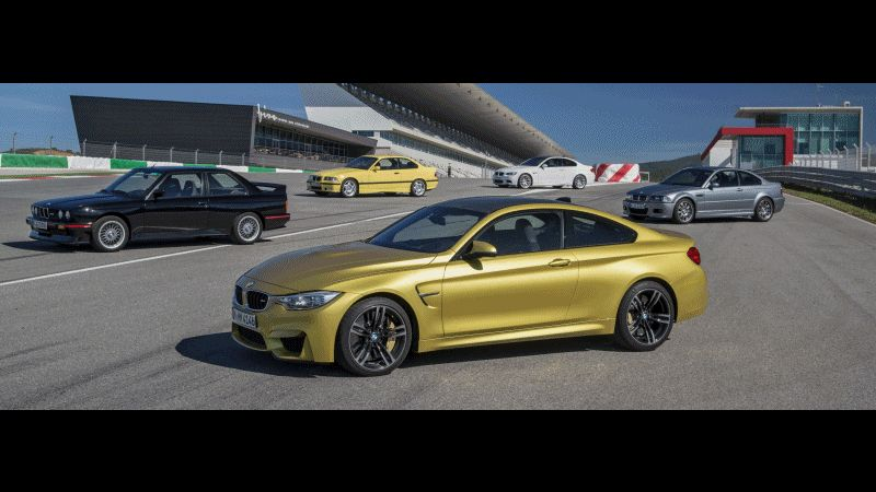 BMW M4 2015 and BMW E30 M3 Sport Evo GIF