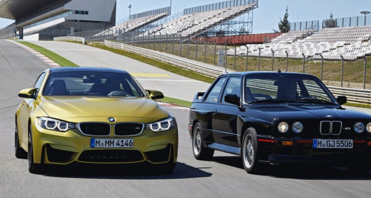 BMW M4 2015 and BMW E30 M3 Sport Evo GIF heaqder