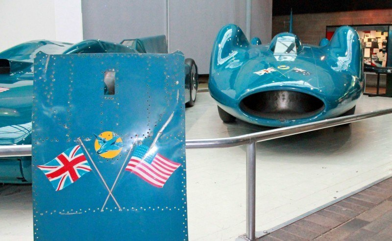 Bluebird V and Bluebird CN7 Reunited and Viewable by Public at Beaulieu National Motor Museum 17