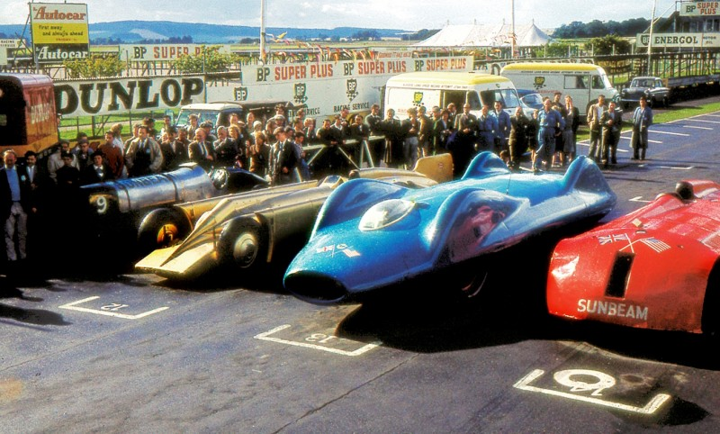Bluebird V and Bluebird CN7 Reunited and Viewable by Public at Beaulieu National Motor Museum 20