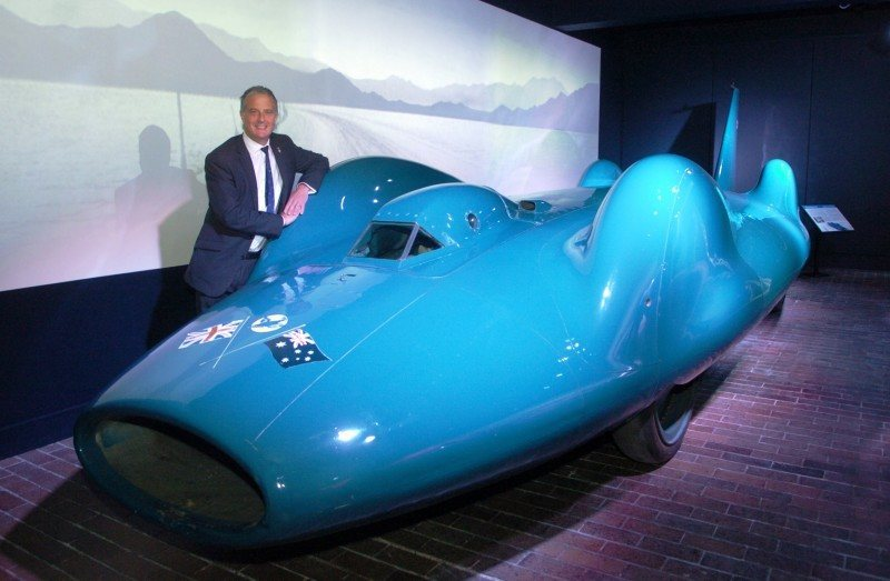 Bluebird V and Bluebird CN7 Reunited and Viewable by Public at Beaulieu National Motor Museum 23