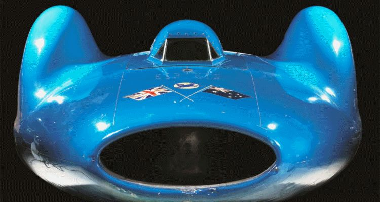 Bluebird V and Bluebird CN7 Reunited and Viewable by Public at Beaulieu National Motor Museum HEADER GIF 222