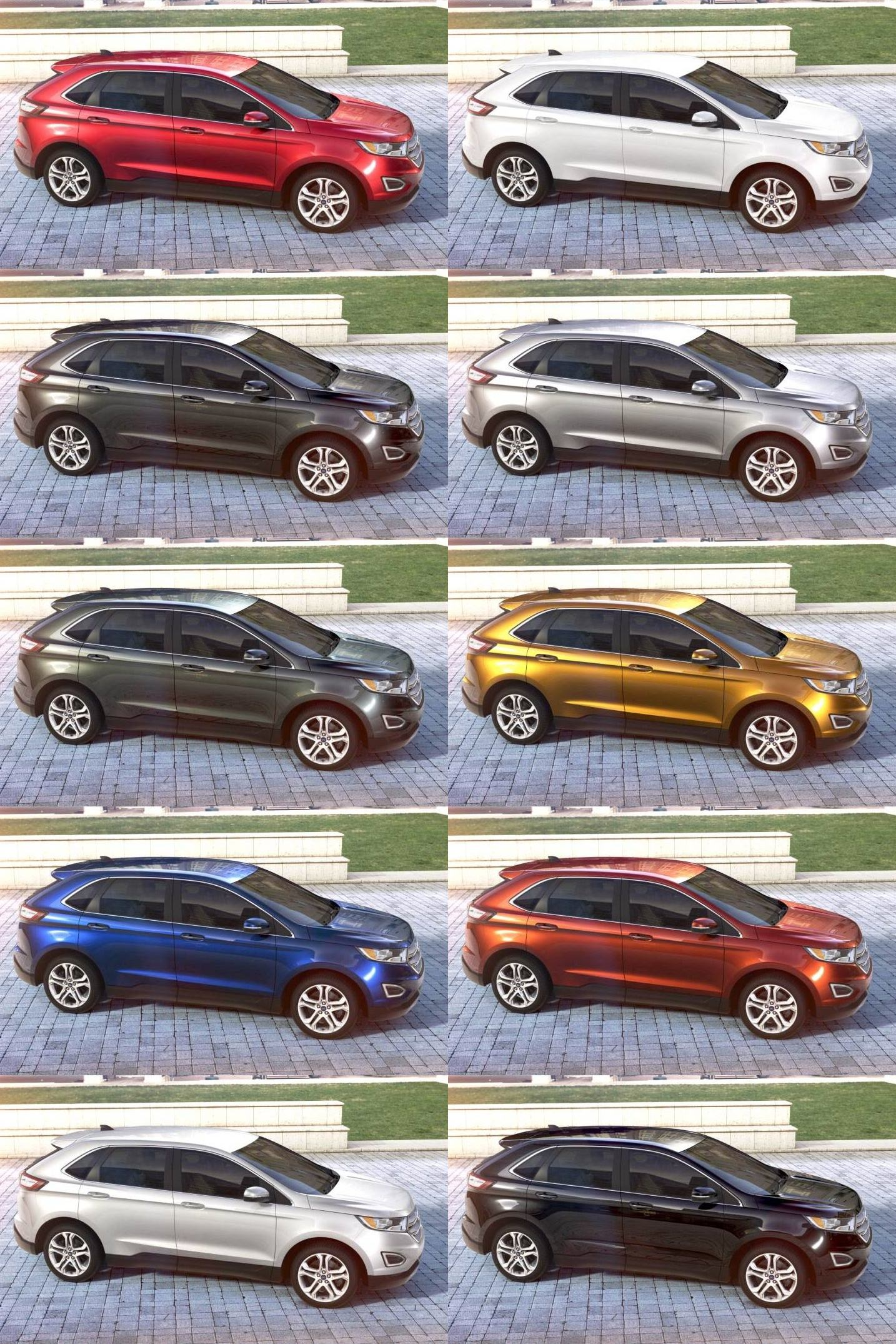 2015 Ford Edge Visualizer All 10 Colors From Every Angle Animated Turntables